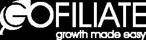 Gofiliate logo white